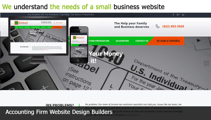 accounting firm web design template site builder