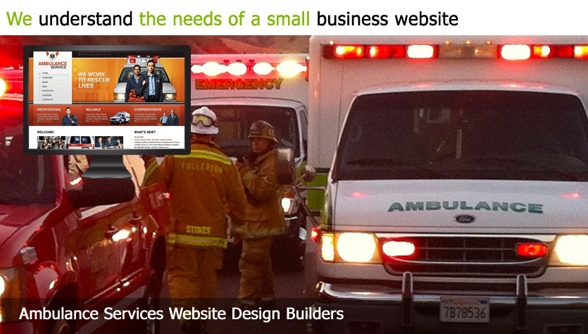 ambulance service web design template site builder