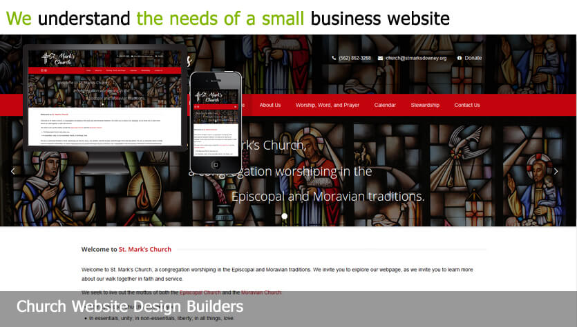 church web design template site builder