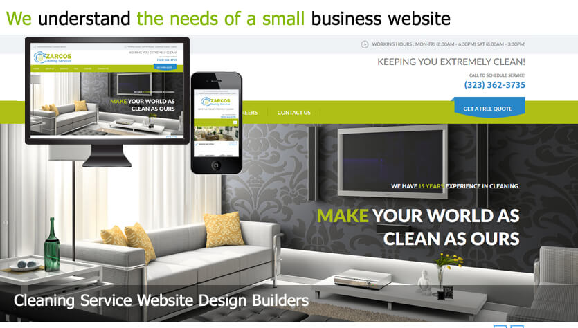 Cleaning Service Web Design Template Site Builder