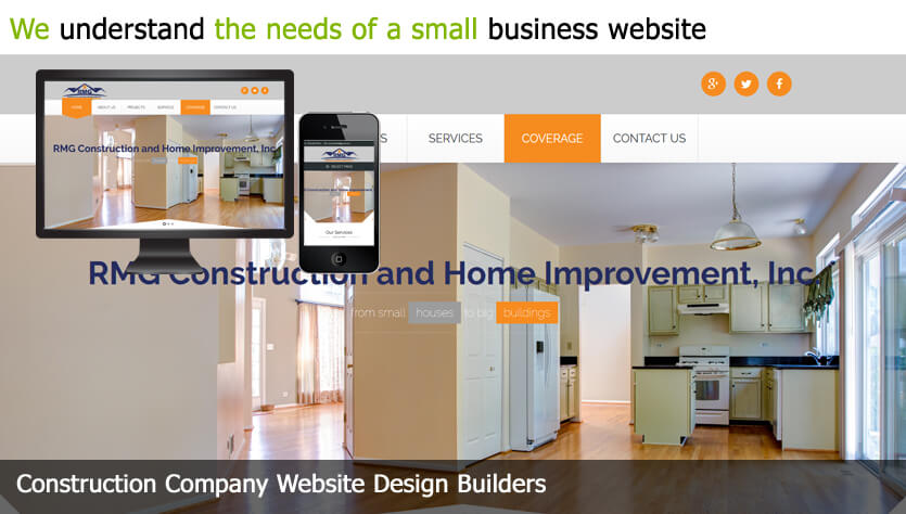 Contruction Company Web Design Template Site Builder