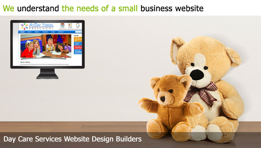 daycare services web design template site builder
