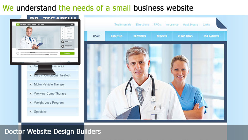 doctor web design template site builder