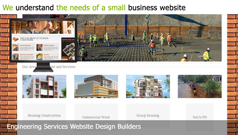 engineering services web design template site builder