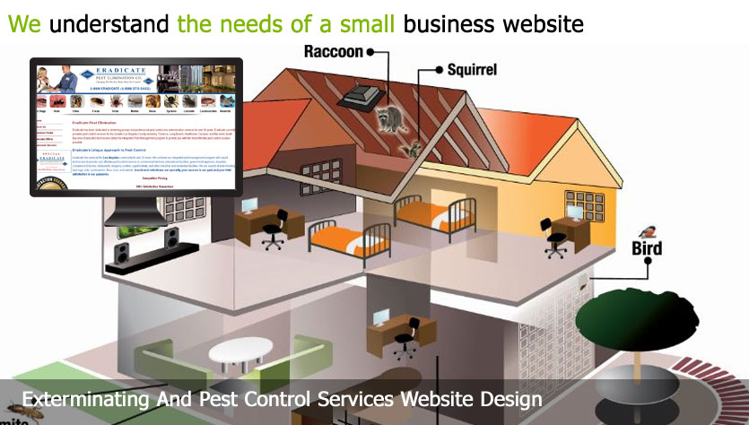 exterminating and pest control web design template site builder