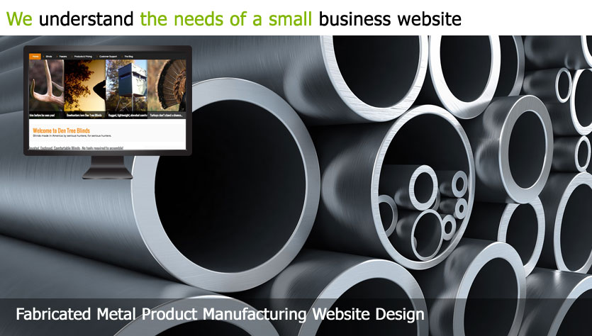 fabricated metal product manufacturing web design template site builder