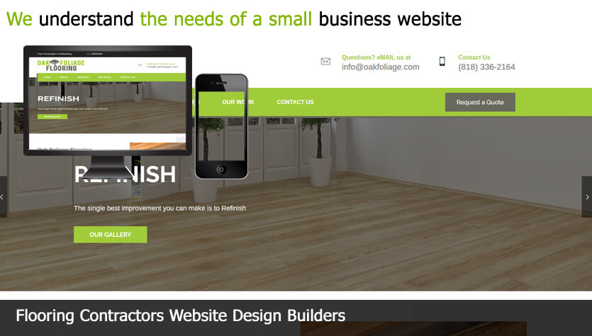 Flooring Contractors website design builder