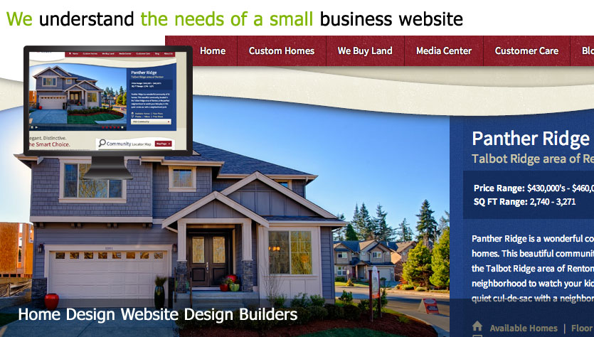home design web design template site builder