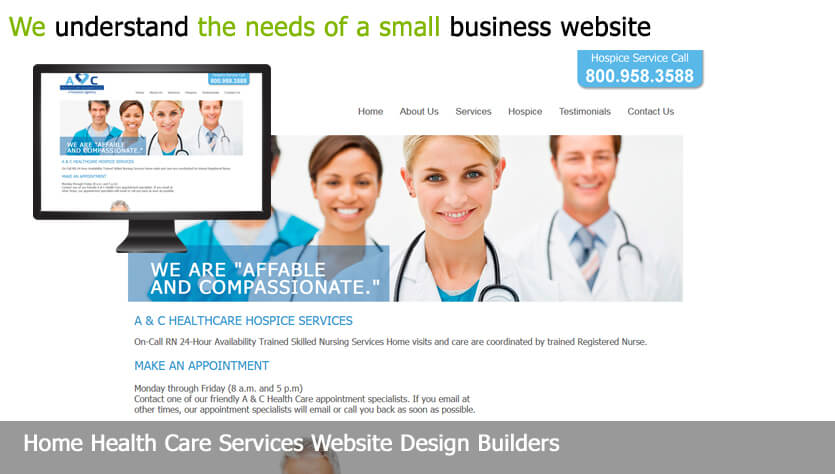 home health care web design template site builder
