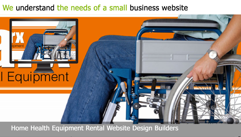 home health equipment rental web design template site builder