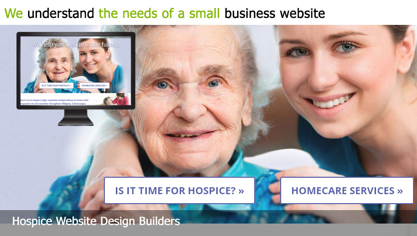 hospice web design template site builder