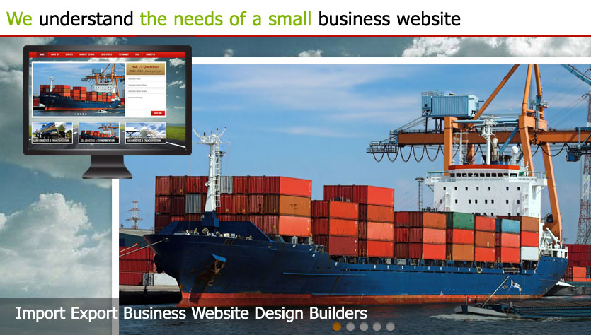 import export business web design template site builder