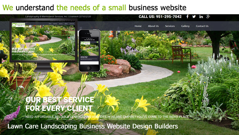lawn care landscaping business web design template site builder