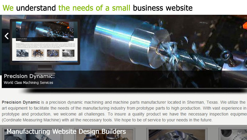 manufacturing web design template site builder