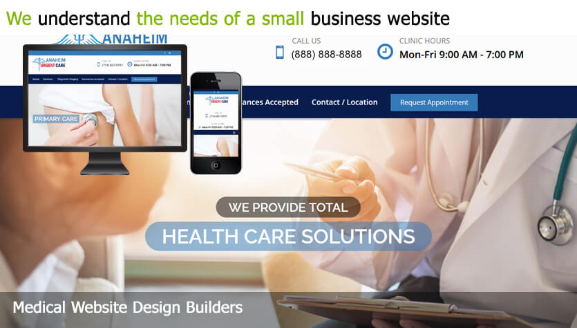 medical website web design template site builder