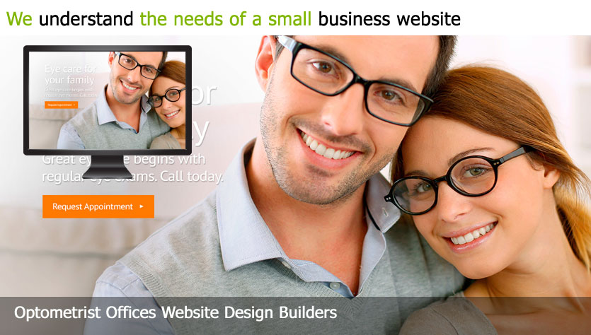 optometrist offices web design template site builder