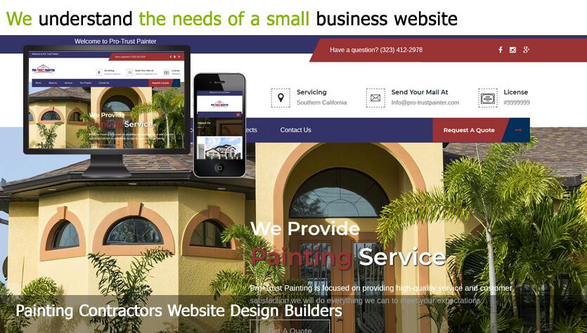Painting Contractors website design builder