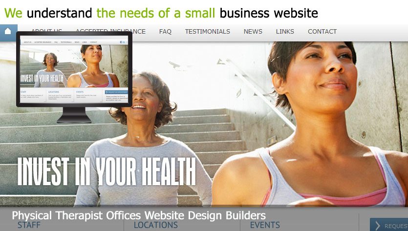 physical therapist offices web design template site builder