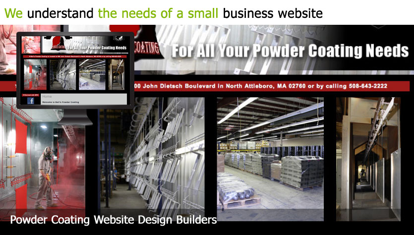 powder coating web design template site builder